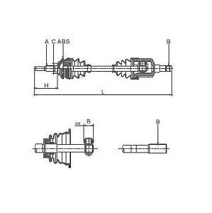 1x-OE-Quality-Drive-shaft-Front-Axle-Left-DS2761-12-Month-Warranty
