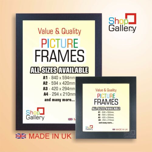 Black Picture Photo Poster Frame Wood Effect Square And A1a2a3a4