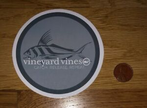 NEW Vineyard VINES Fishing POLE Tackle SUMMER Whale STICKER Laptop DECAL Rare