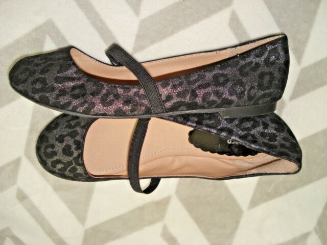 828ed847135 NORDSTROM Girls LILLY-FAB HARPER CANYON Leopard MARY JANE Ballet FLATS Shoes  3