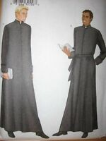 Pattern Mens Cassock Long Robe 32-36 38-42 44-48 Clergy Priest Adult Sewing