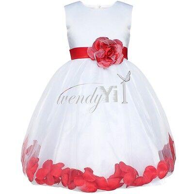 Flower Girl Princess Dress Kid Party Pageant Wedding Bridesmaid Tutu Dresses 2-6