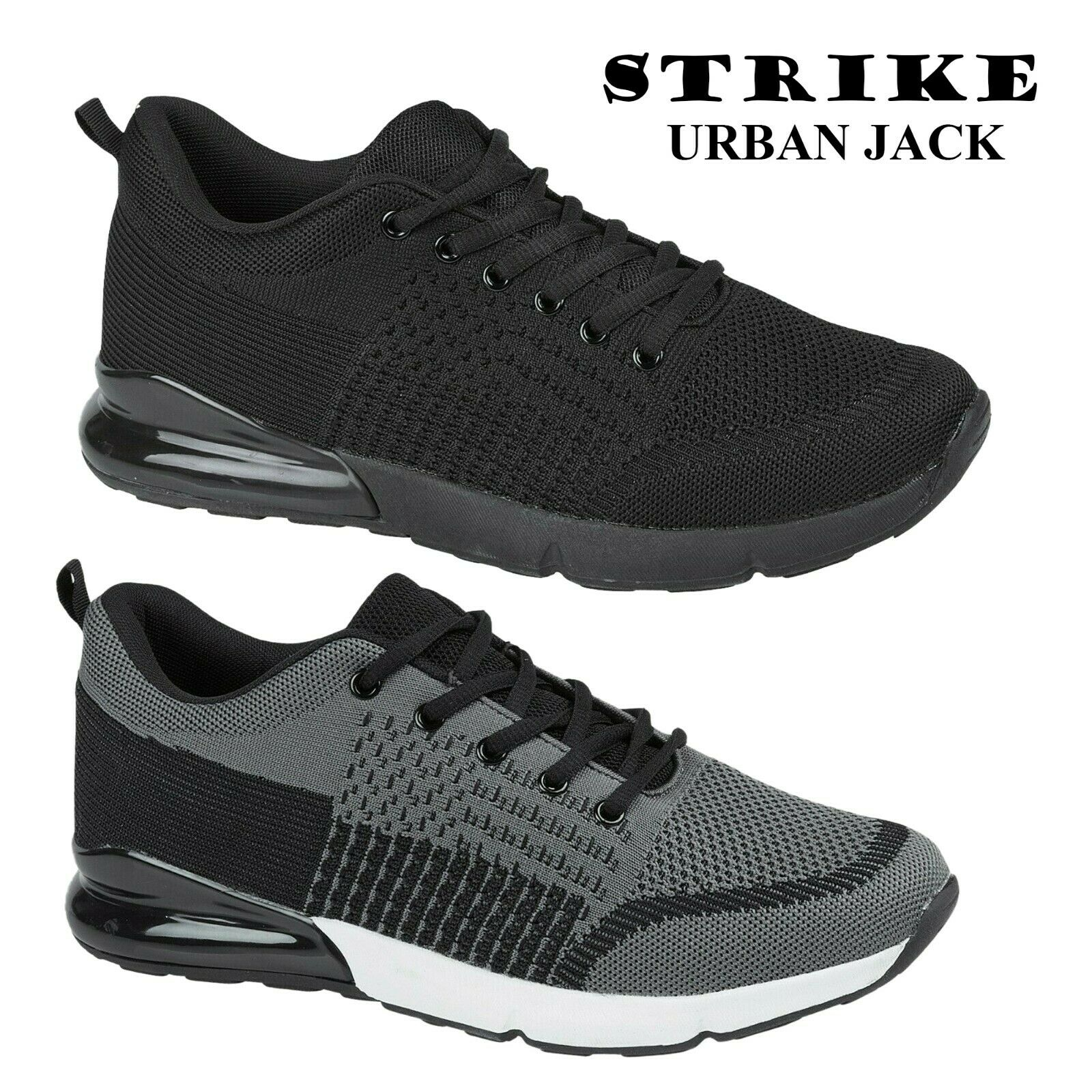 Mens Strike Running Lace Up Sports Gym Work Out Shoe Boys Jogging Trainer Size