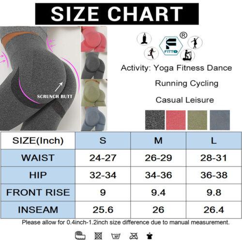 Womens Seamless Leggings Gym High Waist Fitness Sports Ladies Running Yoga Pants