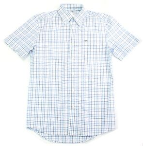 fc6d8fc8 Details about Mens Lacoste Shirt Short Sleeve Blue Check Shirt Size 38  Small to Medium RRP £99