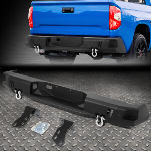 Details about FOR 14-19 TOYOTA TUNDRA REAR HEAVY DUTY STEEL STEP BUMPER  FACE BAR W/D-RINGS