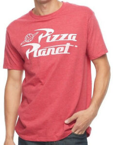 New-Licensed-Toy-Story-PIZZA-PLANET-Logo-Vintage-Style-Tee-Shirt-S-2XL