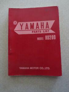 1973 Yamaha Rd200 Illustrated Motorcycle Parts List Ebay