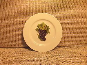 Image is loading Cordon-Bleu-BIA-Dinnerware-Grape-Harvest-Pattern-Salad- & Cordon Bleu BIA Dinnerware Grape Harvest Pattern Salad Plate 7 5/8 ...