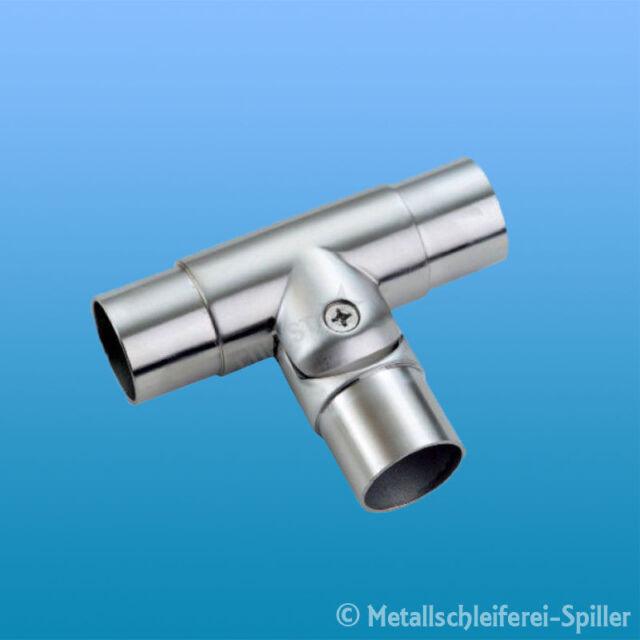 Edelstahl T-Verbinder, flexiblem Abgang für Ø 42,4 x 2 mm Verbinder für Geländer