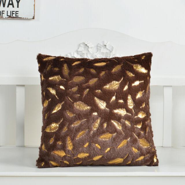 """18/"""" Pillow Cover Case Waist Cushion Sofa Soft Plush Home Car Bed Decor Throw"""