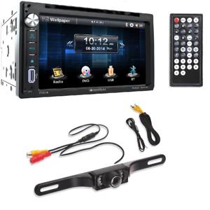 Soundstream VR-651B 2 DIN Bluetooth In-Dash Car Stereo+Car License Plate Camera