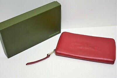 Longchamp, Portefeuille compagnon en cuir foulonné rouge | eBay
