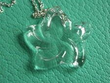 Tiffany & Co Elsa Peretti rock crystal large star pendant necklace silver 30""