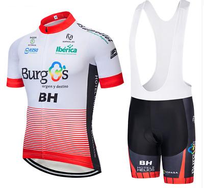 Mens Cycling Jerseys Set Team Bike Shirts and Bib Shorts Kits Smoking Rider