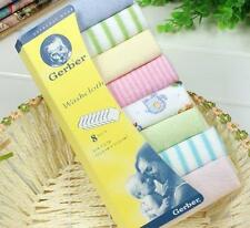 8pcs Baby Soft Bath Towel Washcloth Wipe 23 x 23cm