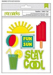 american crafts remarks sticker book summer sunshine