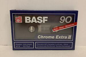 BASF Chrome Extra II 90 Type II High Bias Audio Cassette Tapes - NEW