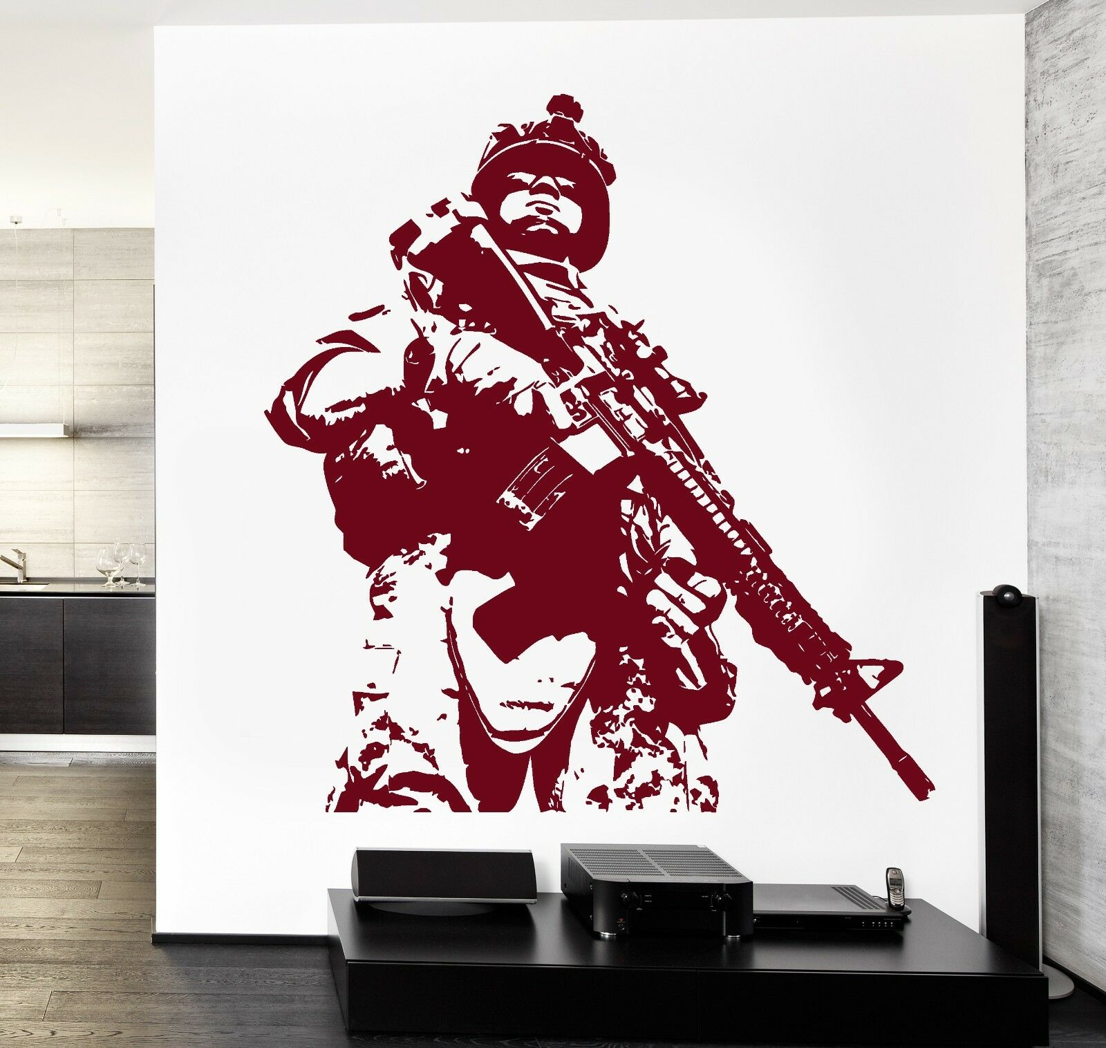 Wand Vinyl US Soldier Marine Army Military Guaranteed Quality Decal (z3428)