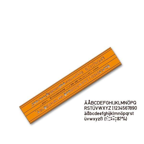 Schriftschablone Standardgraph 2024//2,5 mm nach DIN 1451