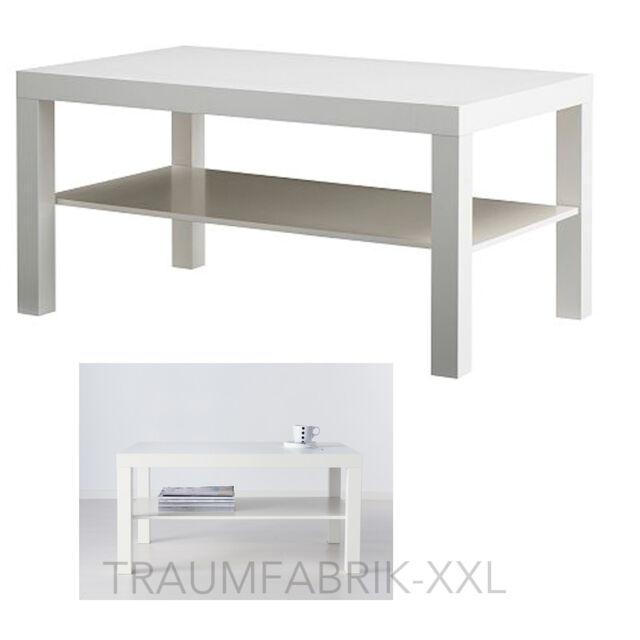 IKEA WAX Coffee Table 90x55 CM Living Room White Drop Lounge NEW
