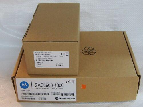 motorola 4 Slot Battery Charger Cradle SAC5500-4000CR /& pwrs-14000-148r mc55//65