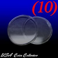 (10) 1 Oz. Silver & Copper Round Size Direct Fit Air-tite Coin Capsules [h39]