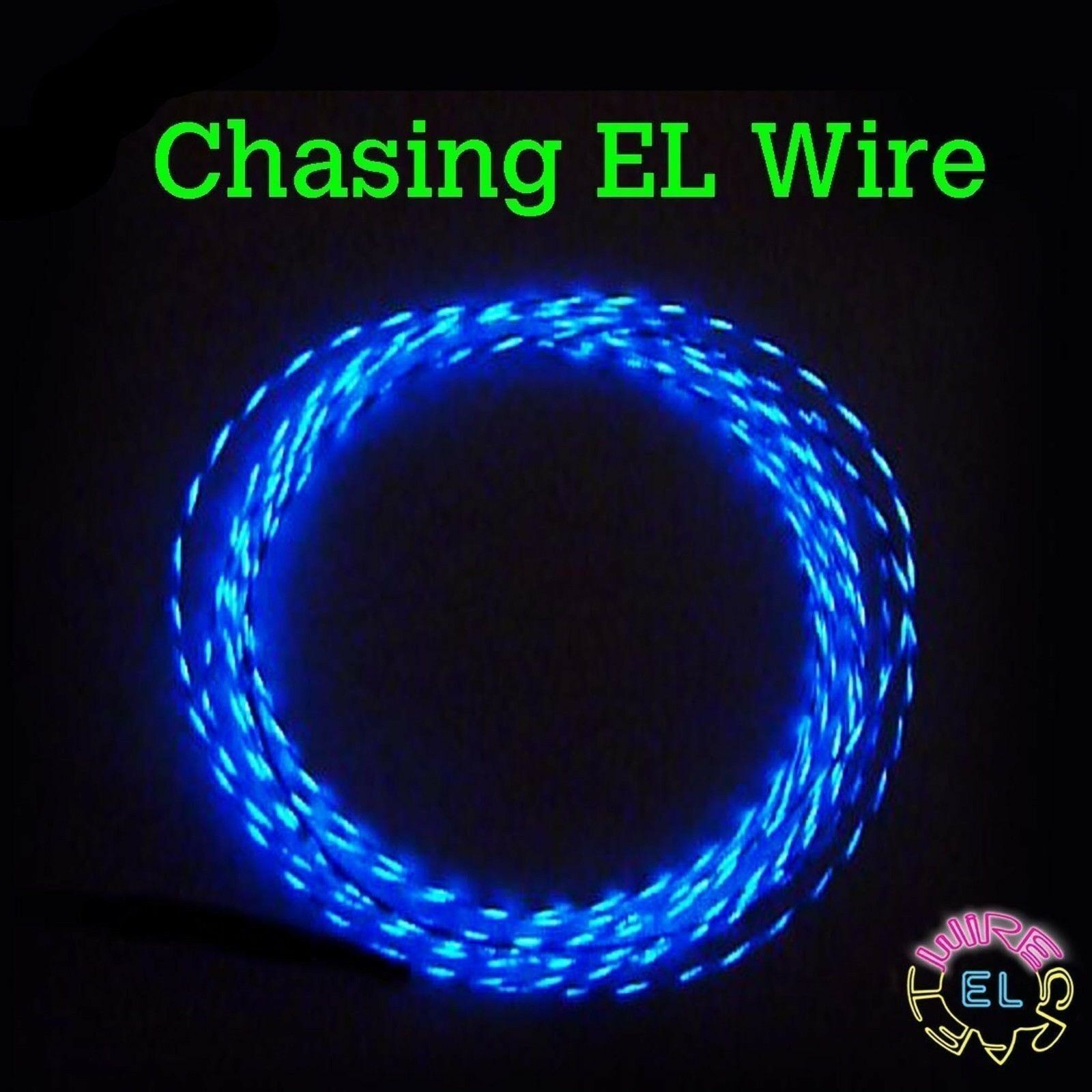 CHASING EL Wire -  p m - 10 metres of 2.3mm Motion EL Wire in Many Colours