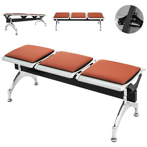 Heavy-PU-Leather-3-Seat-Office-Bank-Airport-Reception-Waiting-Room-Bench-Chair