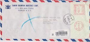 K82-92-1991-Taiwan-franked-envelope-air-mail-to-NZ-CP