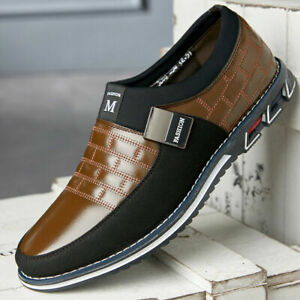 Mens-Casual-Shoes-Driving-Moccasins-Slip-On-Loafers-Big-Size-39-48-Leather-Shoes