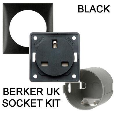 Genuine Berker 240v 13a 3 Pin Socket vw Transporter camper caravan Anthracite