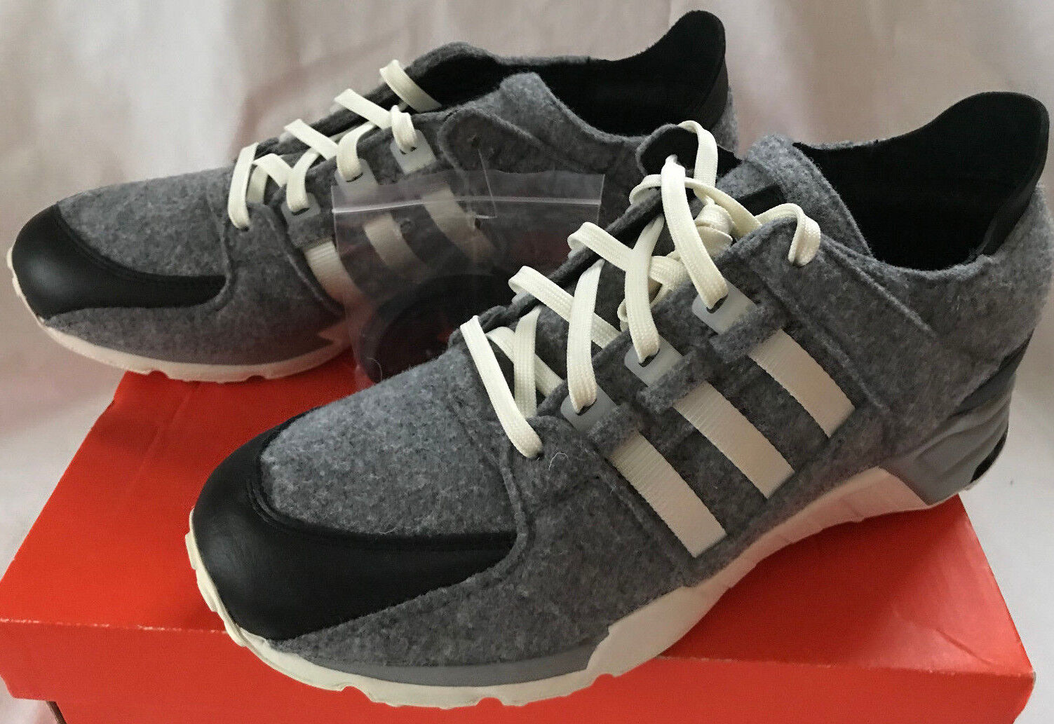 Adidas Adidas Adidas EQT Wool AQ8454 Grey Core Black White Support Running shoes Men's 10.5 91f86c