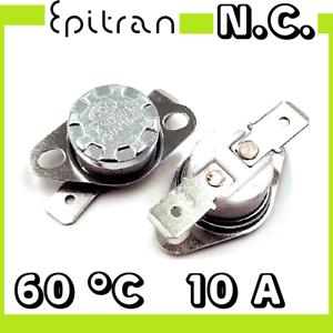 Interruttore termico 60°C 60 gradi °C ° normalmente chiuso nc termostato switch