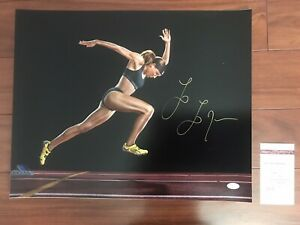 Olympic Track & Field Hurdler LoLo Jones Autographed 16x20 ...