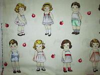 Paper Dolls Girls Boys Variety White Fabric Bthy