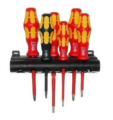 Wera Kraftform Plus 160i//168i//6 Insulated Professional Screwdriver Set 6-Piece Wera Tools 05347777001