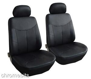 FRONT-BLACK-LEATHERETTE-SEAT-COVERS-FOR-SKODA-FABIA-OCTAVIA-MPV-ROOMSTER-YETI