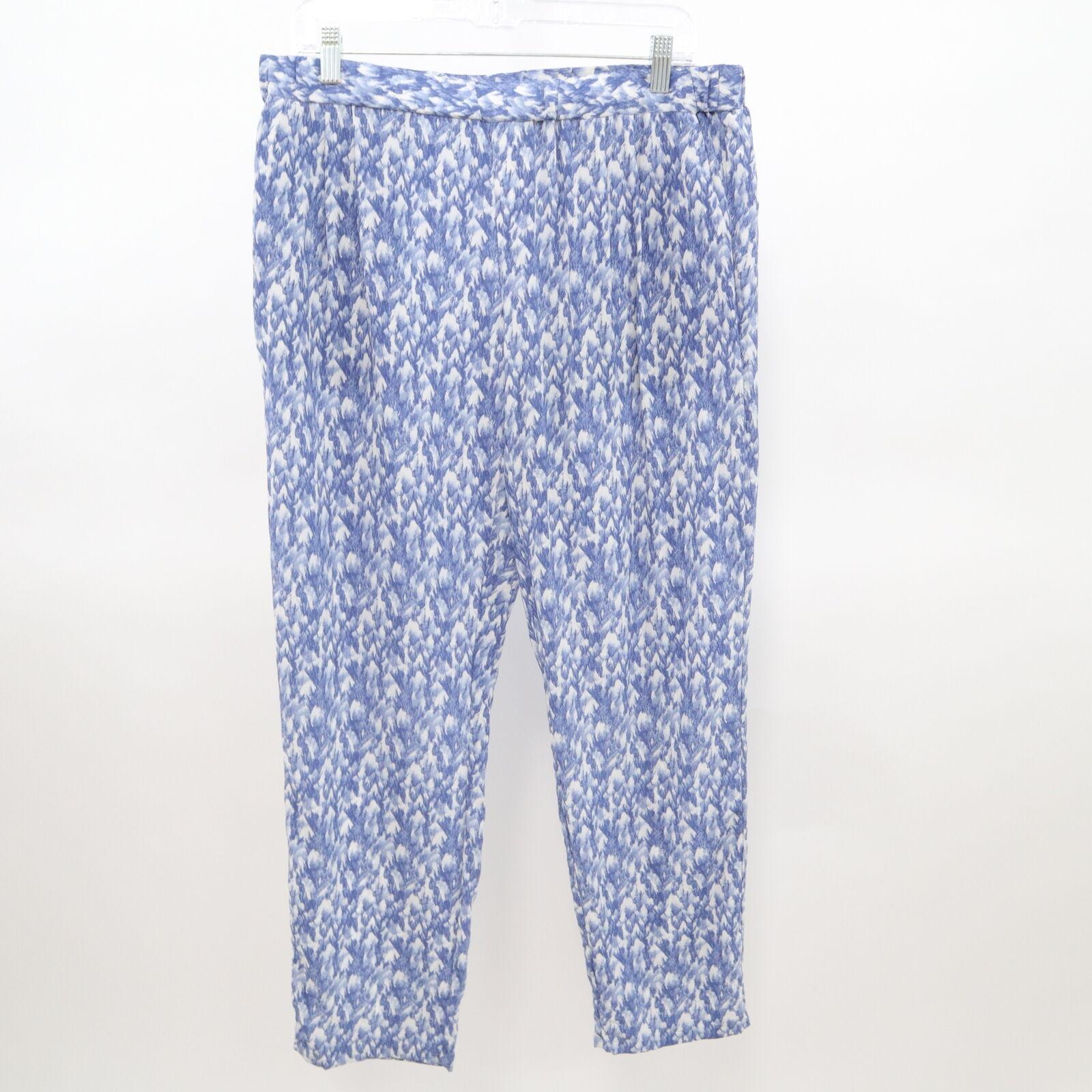 Joie Pantalones  para mujer 100% Seda Gage L Grande Azul blancooo Estampado de tobillo longitud tirar-en  últimos estilos