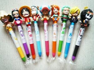 rebuild of one piece anime seal complete set of 9 figures pens