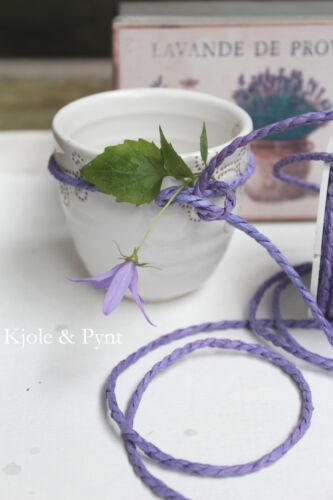 0,25€//m lavendel lila Papierkordel Papierschnur Packschnur 2mm 9,5m 20m