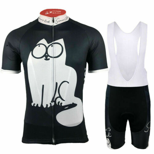 Simons Cat MEOW Cycling Jersey and  Bib Short Set