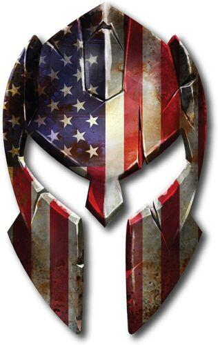 10 inch Molon Labe Spartan Helmet Gladiator American Flag Heat Transfer Iron on
