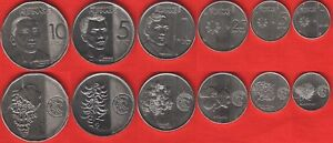 """1 Sentimo Nice Philippines Set Of 6 Coins 10 Piso 2017-2018 """"new Generation"""" Unc"""