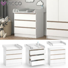 VICCO Emma changing unit ? baby changing table sideboard with 3 drawers white