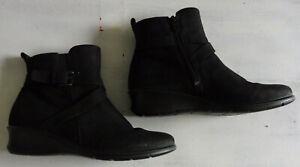 Details zu Ecco Damen Stiefel etten ankle Boots echt Leder schwarz UK 6 Gr 39