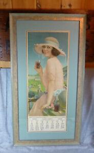 Antique 1922 Coca Cola Coke Advertising Calendar Near Mint