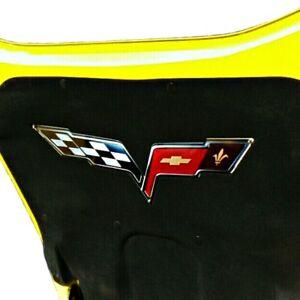 C6 Corvette Under Hood Liner Emblem Fits: 05-13 Corvettes Except the ...