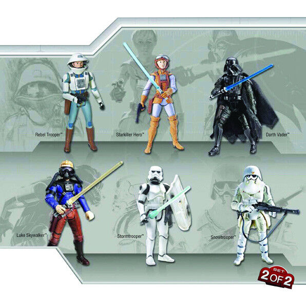 Star Wars Ralph McQuarrie Concept Action toy Figures Collectors Boxed Set No 2