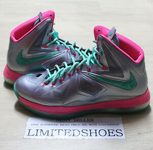 info for 6802c 79cb0 Image is loading NIKE-LEBRON-X-10-ID-SILVER-PINK-GREEN-